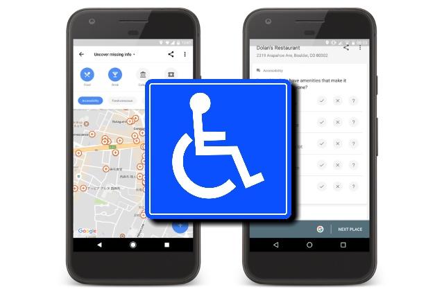 google maps indica luoghi accessibili